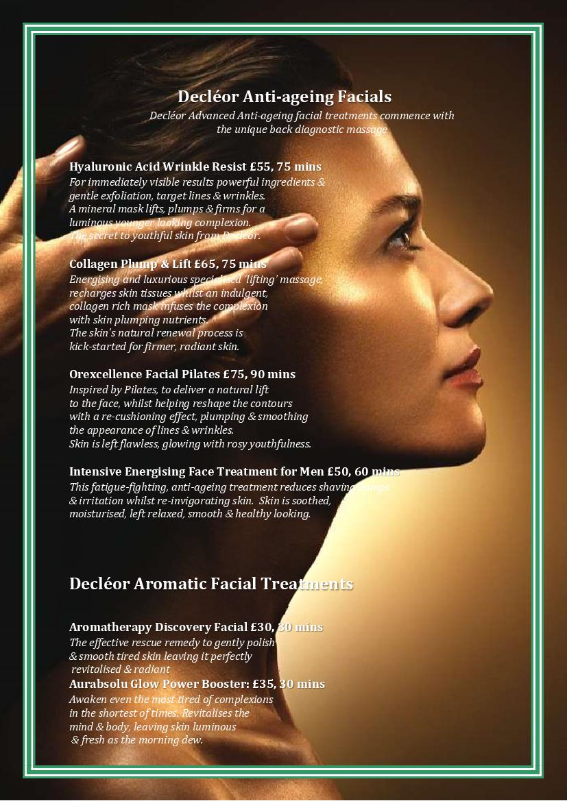 Decleor-Anti-Ageing-Facials